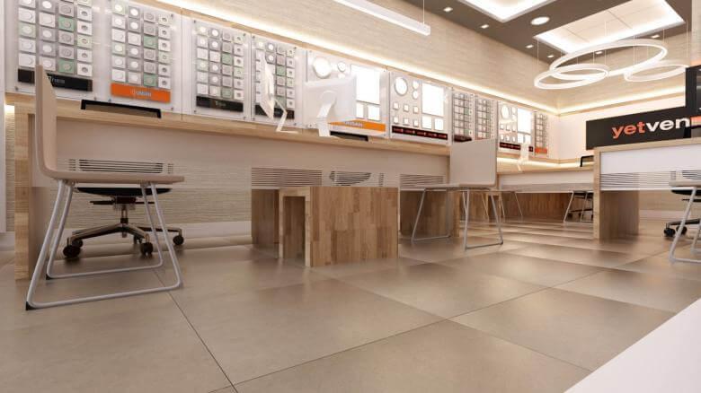 shop design 2033 Yetven Electric / Ulus Retail