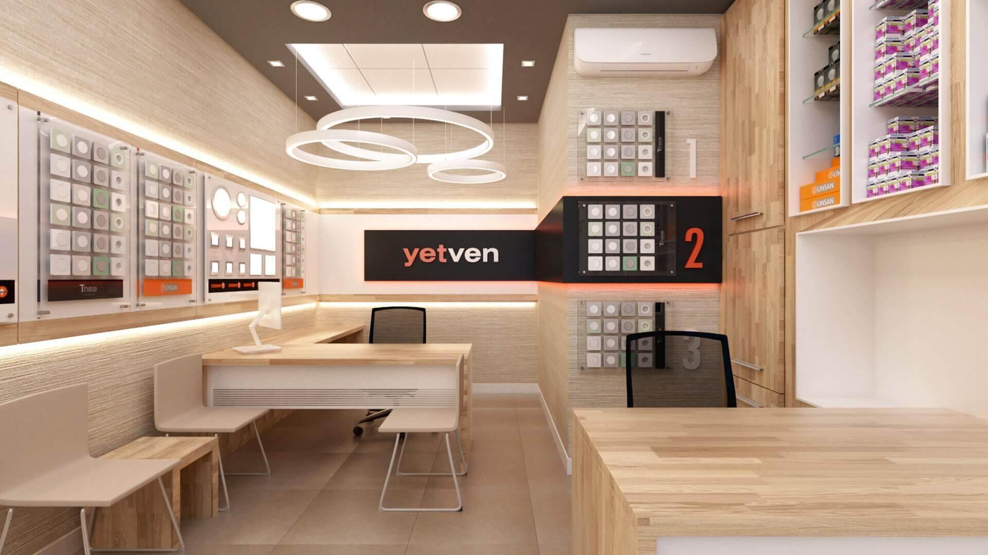 shop design 2034 Yetven Electric / Ulus Retail
