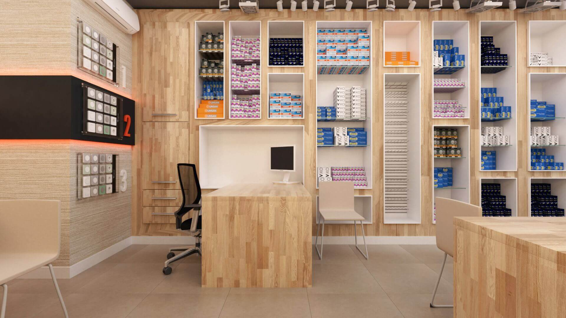 retail design 2035 Yetven Electric / Ulus Retail