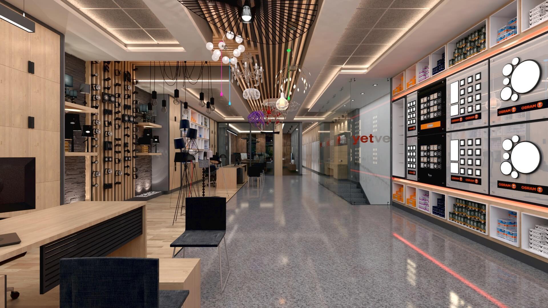 Retail Shop Design Interior Architecture Yetven Electric / Ostim