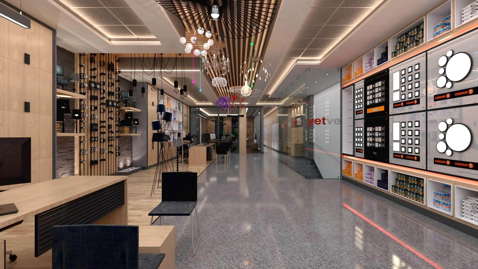 shop design 2040 Yetven Electric / Ostim Retail