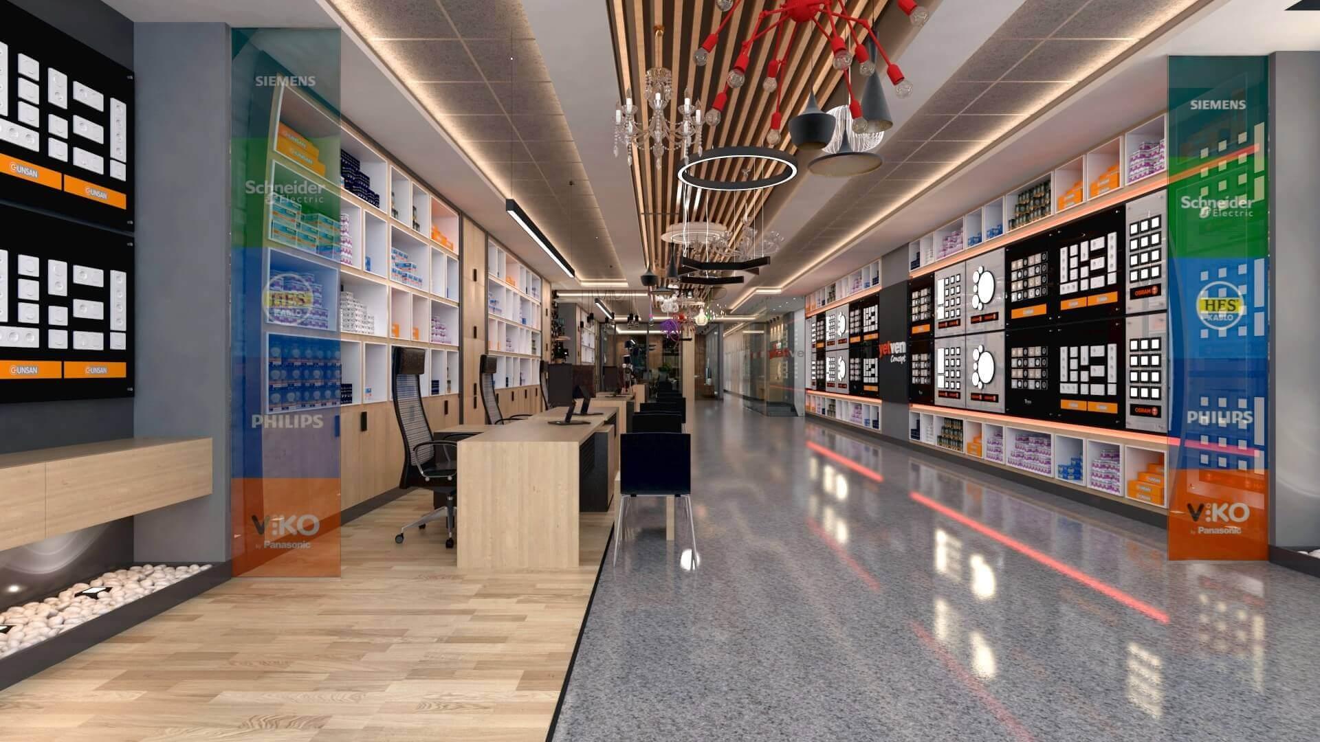 Shop design 2041 Yetven Electric / Ostim Retail