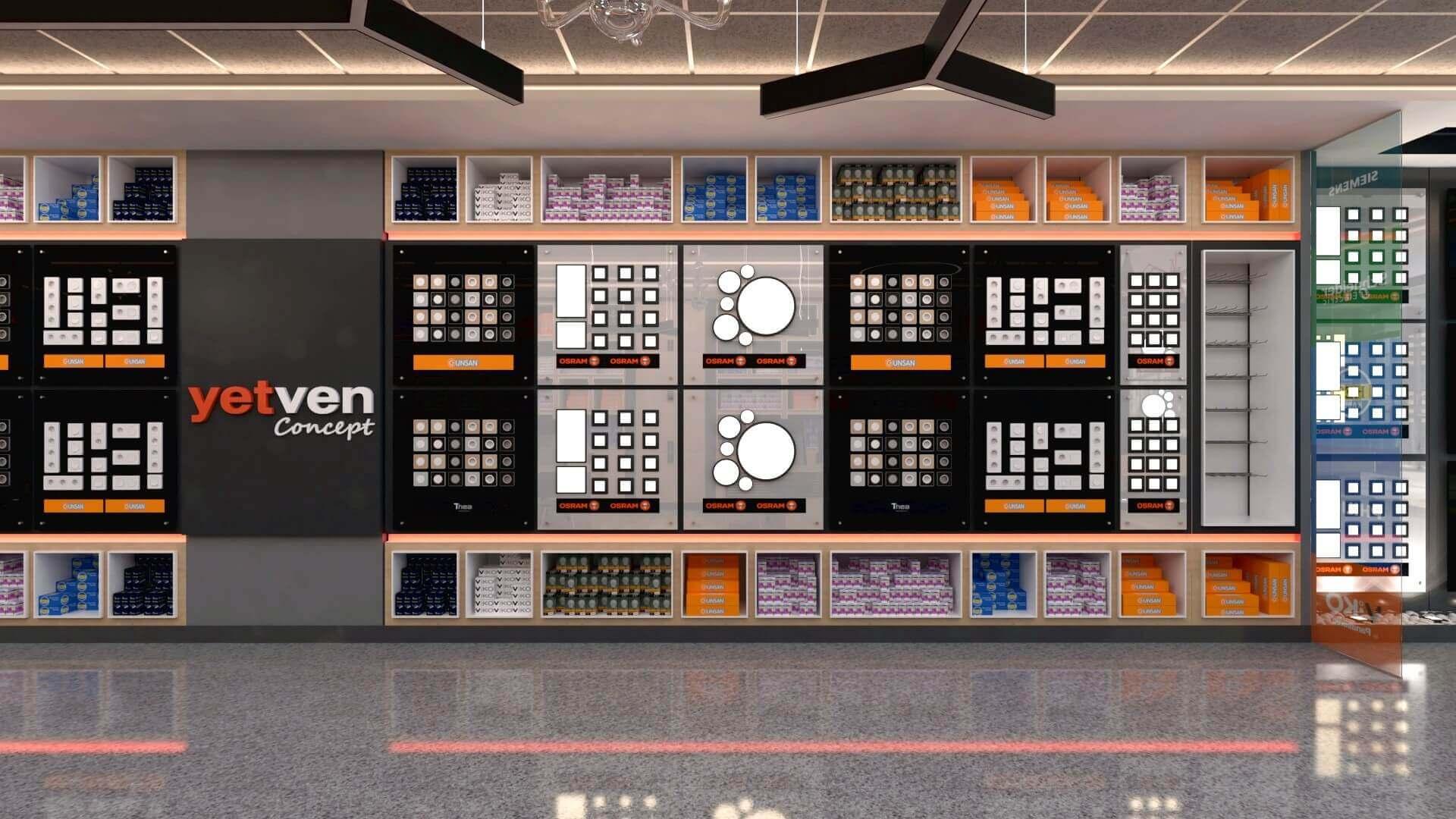 shop design 2043 Yetven Electric / Ostim Retail