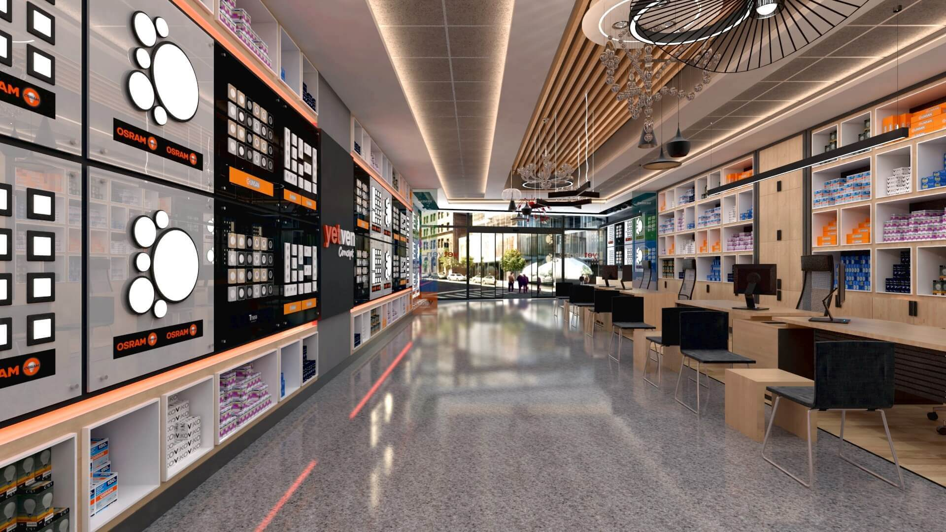 retail design 2045 Yetven Electric / Ostim Retail