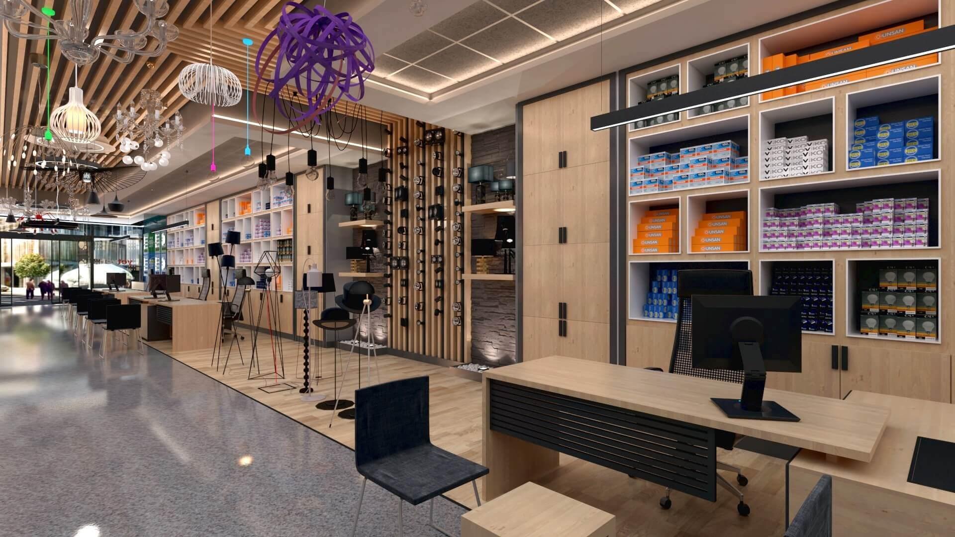 shop design 2046 Yetven Electric / Ostim Retail