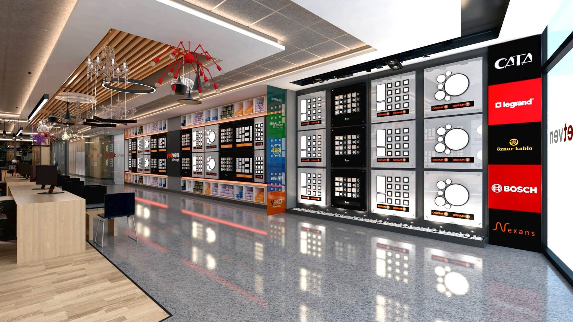 Shop design 2051 Yetven Electric / Ostim Retail