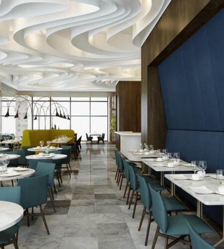 restaurant interior design 2055 Tiflis Steakhouse