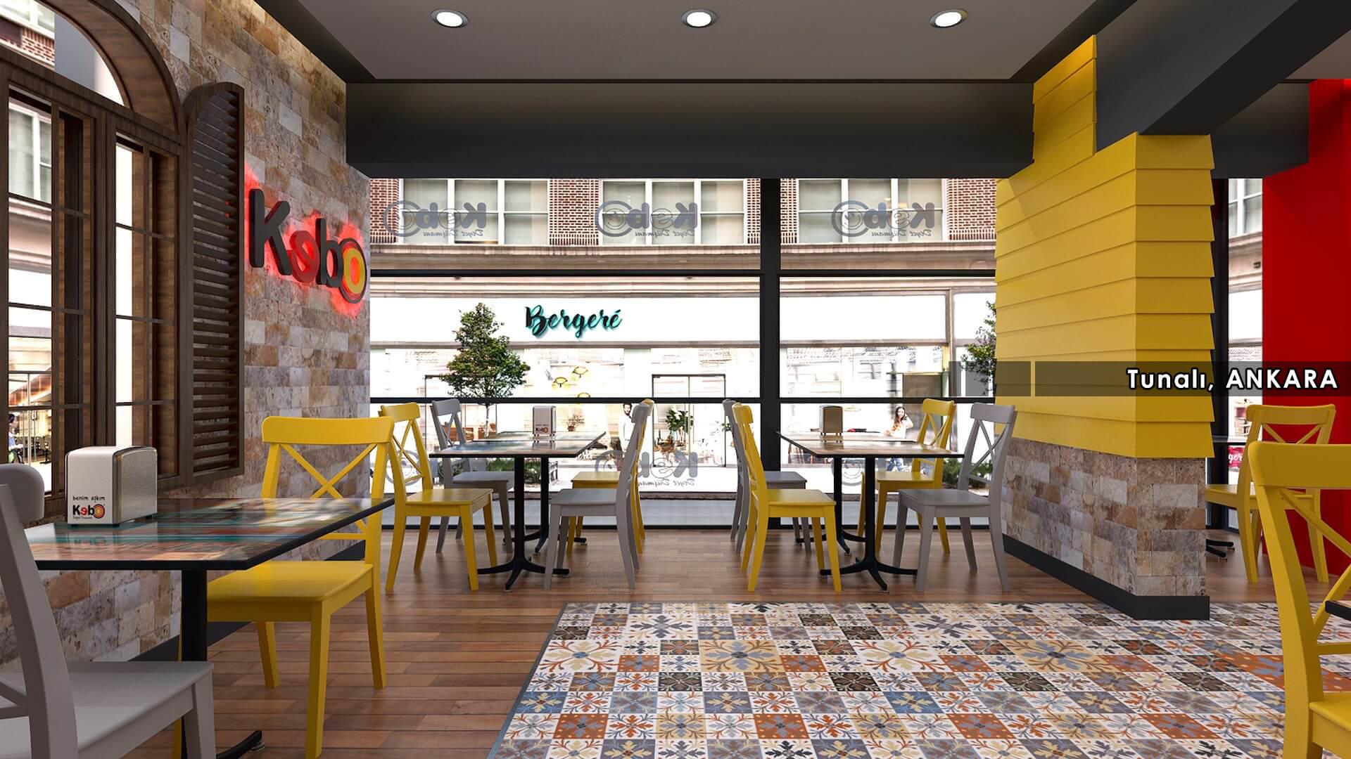 Restaurant interior design Kebo 2016