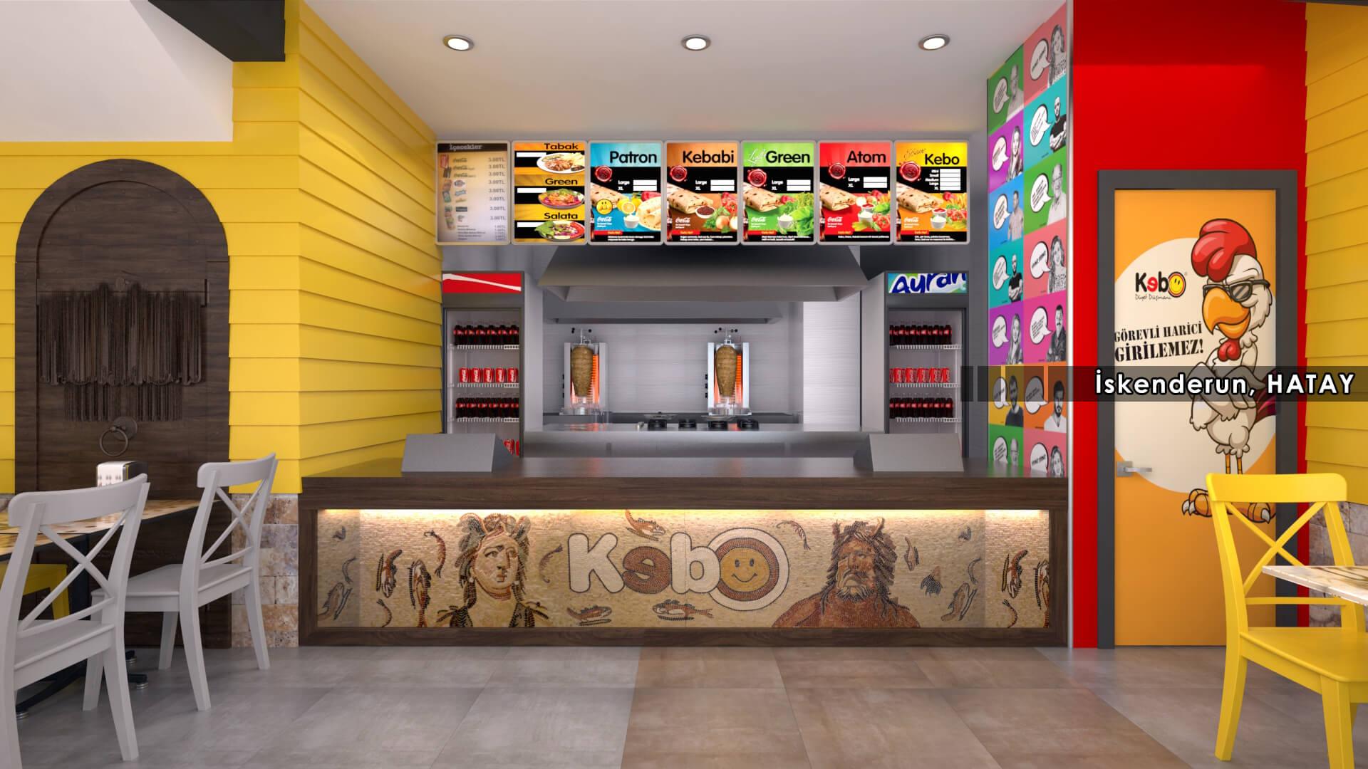 Restaurant interior design Kebo 2017