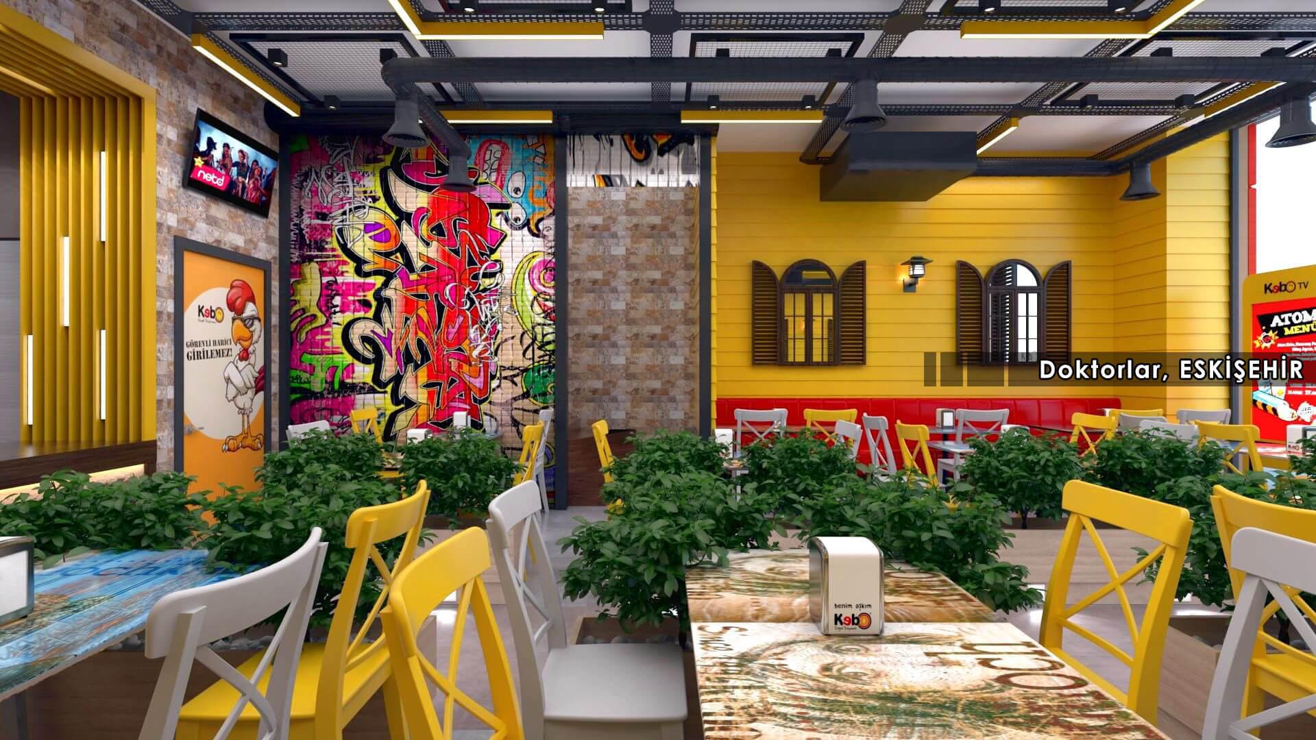 Restaurant interior design Kebo 2018