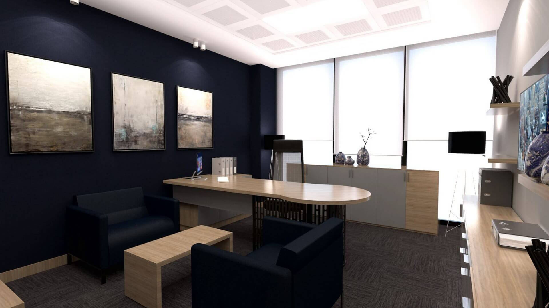 office design 2244 A. Caglar CPA Office Offices