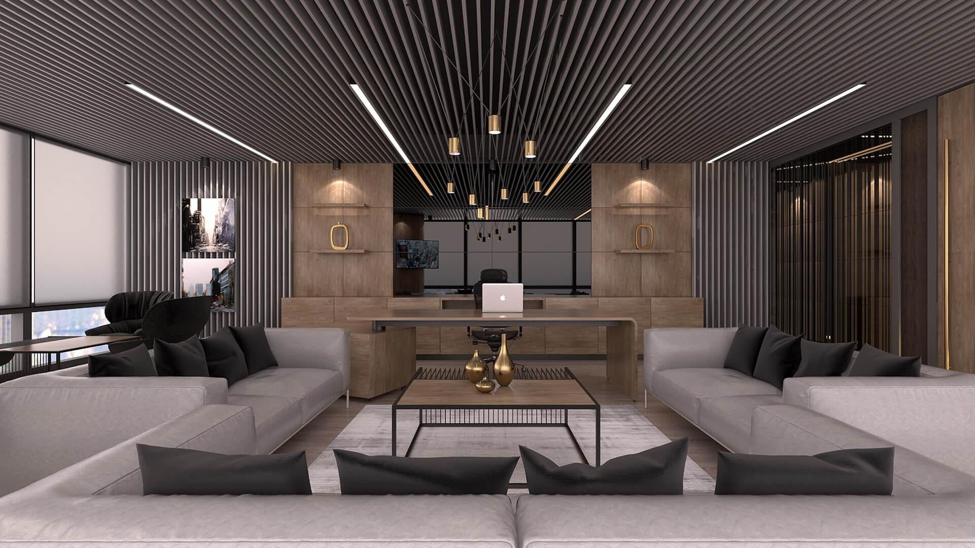 Office Interior Design Decoration Bahar Construction