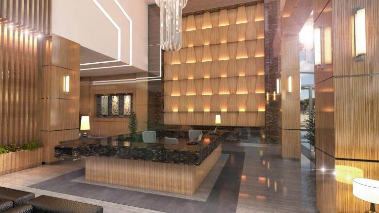 office design 2708 Yelken Business Tower Entrance Offices