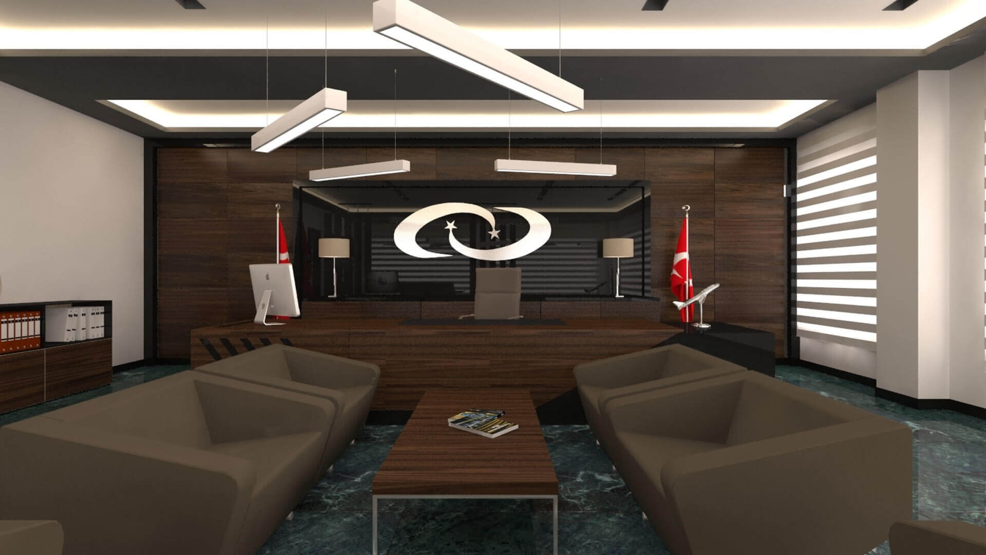 Waiting area 2721 Turk Ilac Office Building Offices