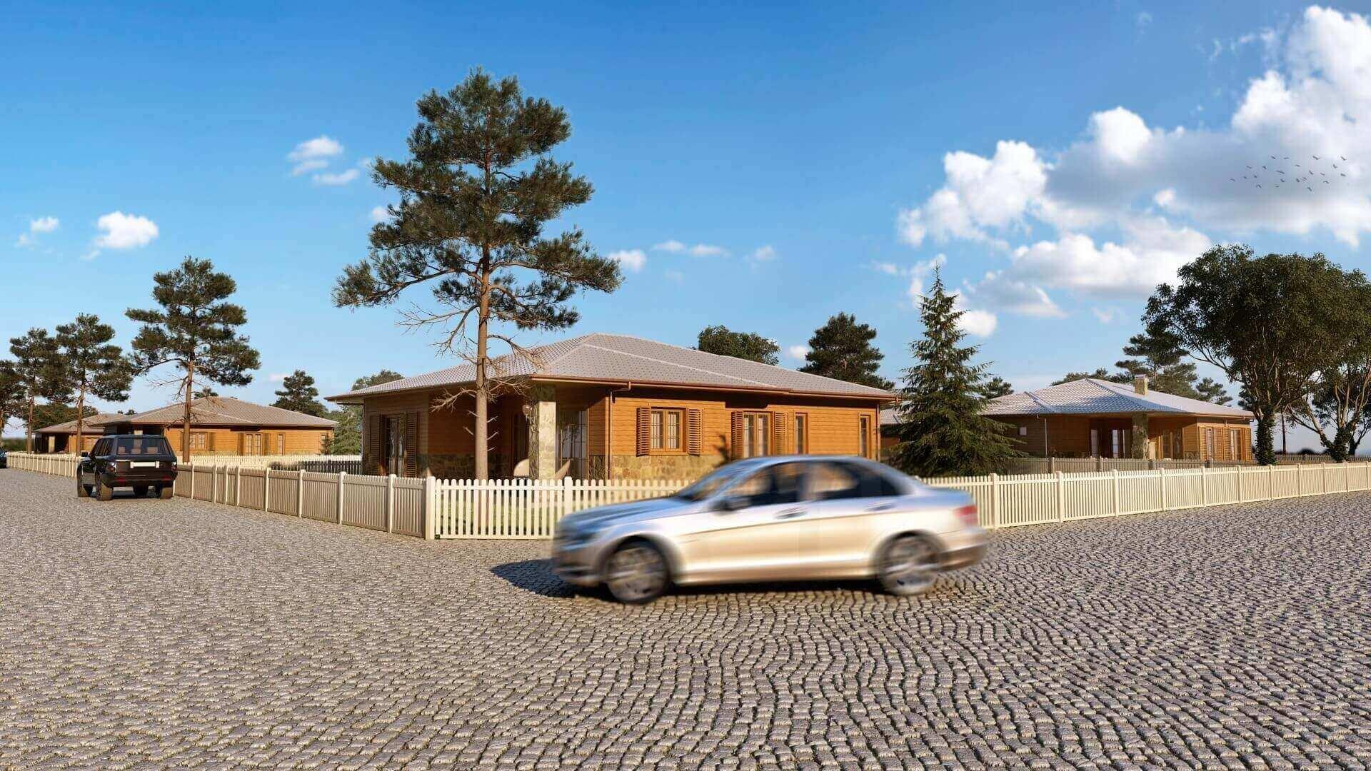 home decoration 3392 Ecological Village Muratli Residential
