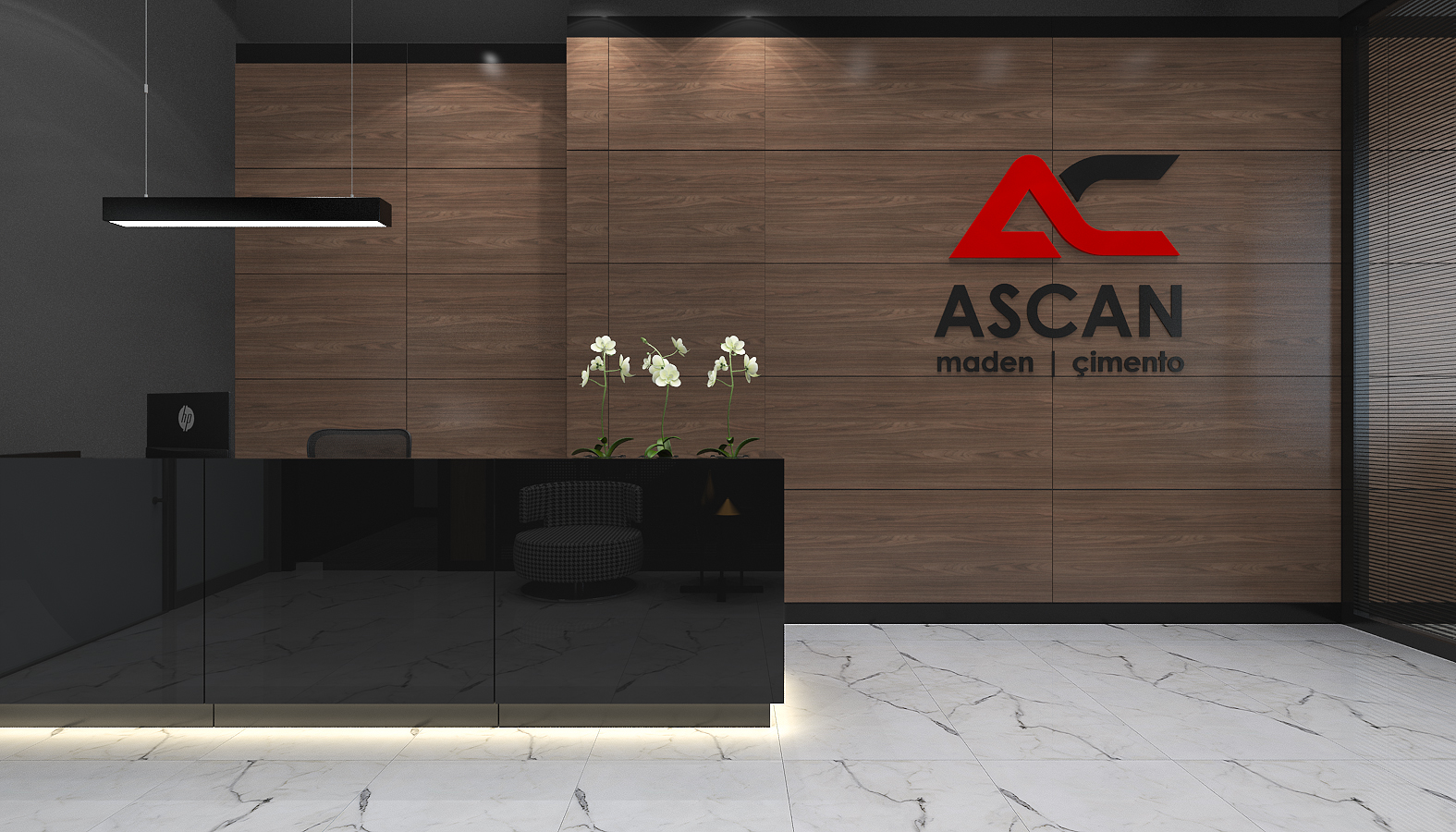 Office Interior Design Decoration Ascan Mine and Cement