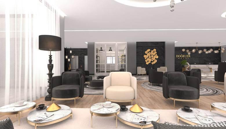 Lobby design 3579 Dogruer hotel Hotels