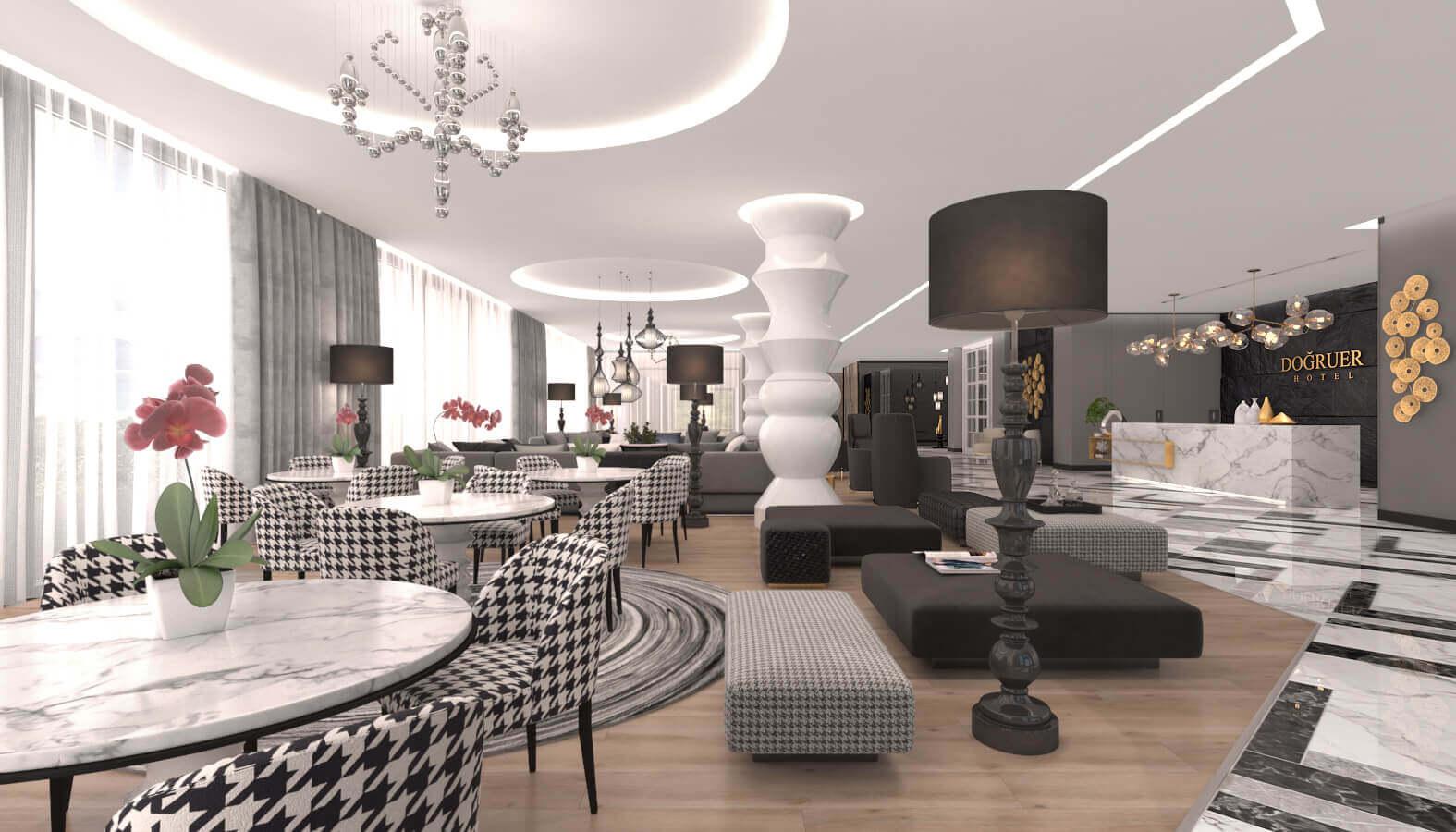 Lobby design 3585 Dogruer hotel Hotels