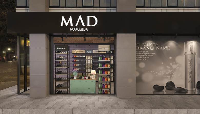 shop design 3682 Mad Parfumer Store Retail