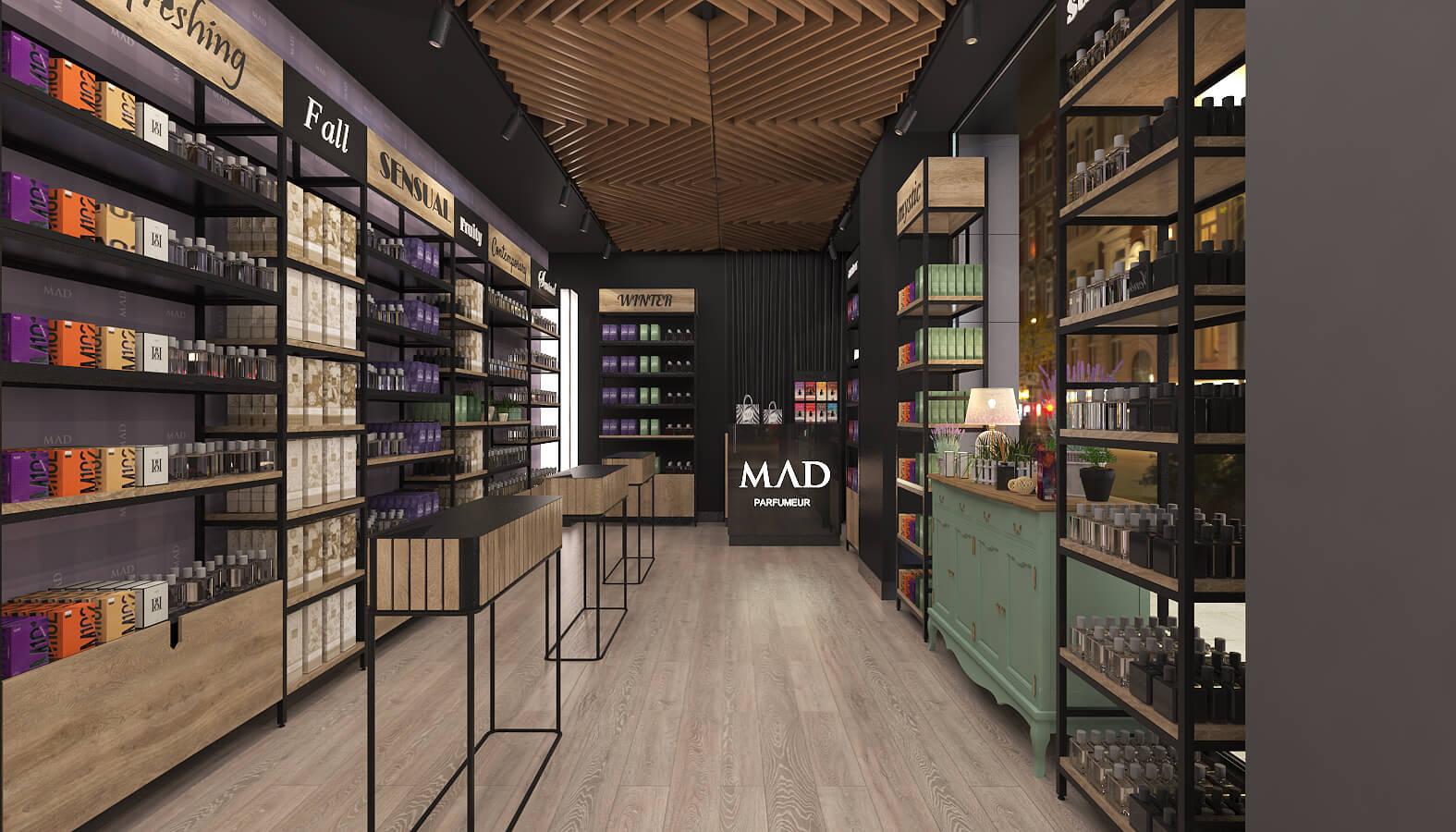 shop design 3687 Mad Parfumer Store Retail