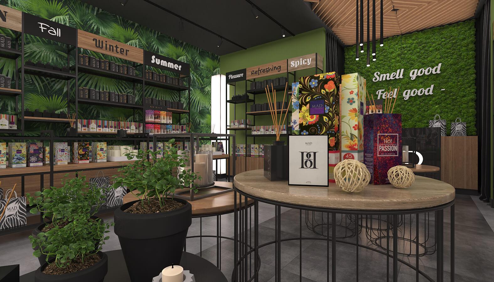 shop design 3696 Mad Parfumer Store Retail
