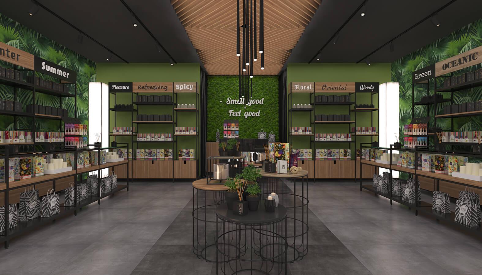 shop design 3702 Mad Parfumer Store Retail