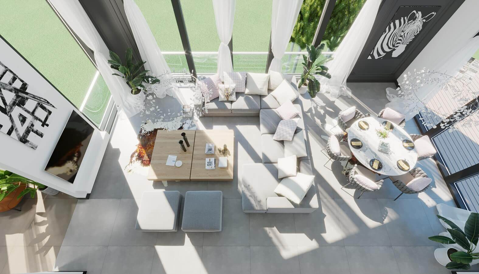 Villa interior design 3901 NC House Residential