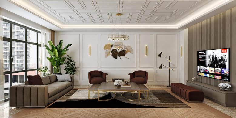 flat decoration 4484 Incek Prestij Dublex Apartment Residential