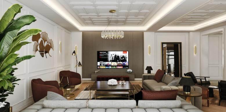 flat decoration 4485 Incek Prestij Dublex Apartment Residential
