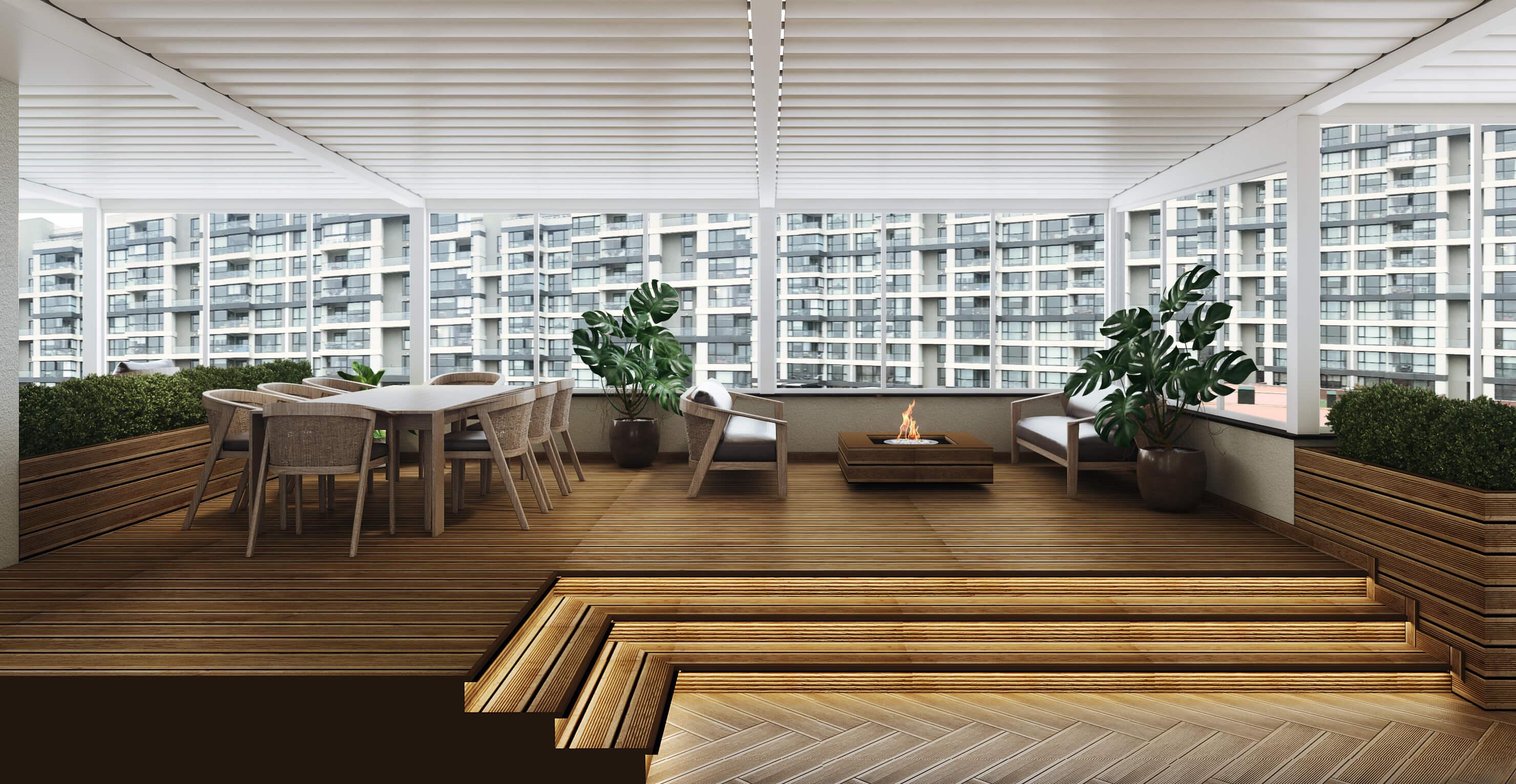 flat decoration 4495 Incek Prestij Dublex Apartment Residential